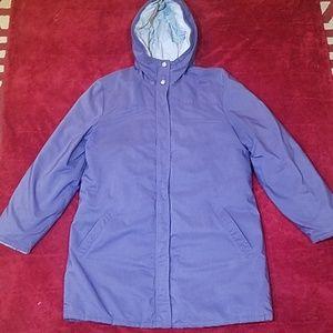L.L.Bean Women's Down 3/4 Jacket Purple Size M